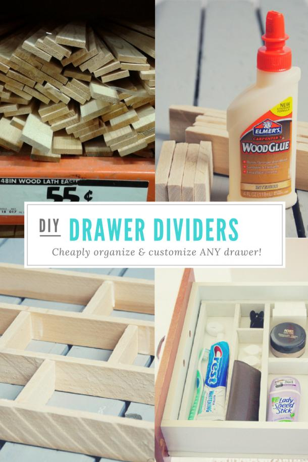 14 DIY Drawer Dividers