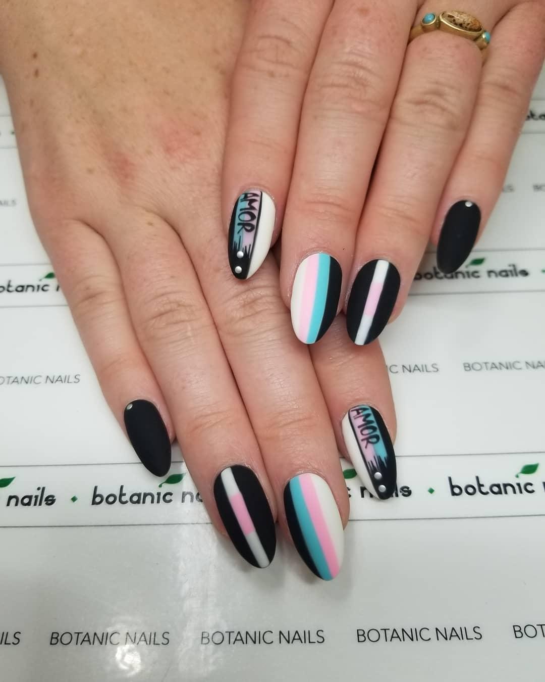 14 Matte Almond Shaped Nail Designs