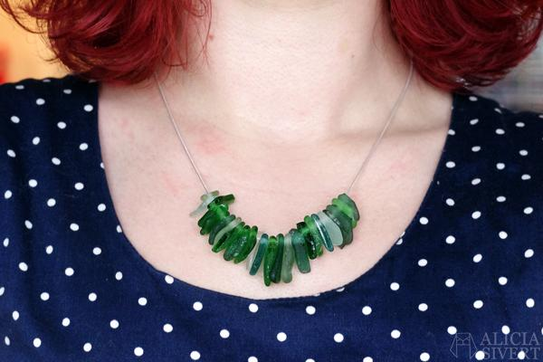 14 Sea Glass Statement Necklace