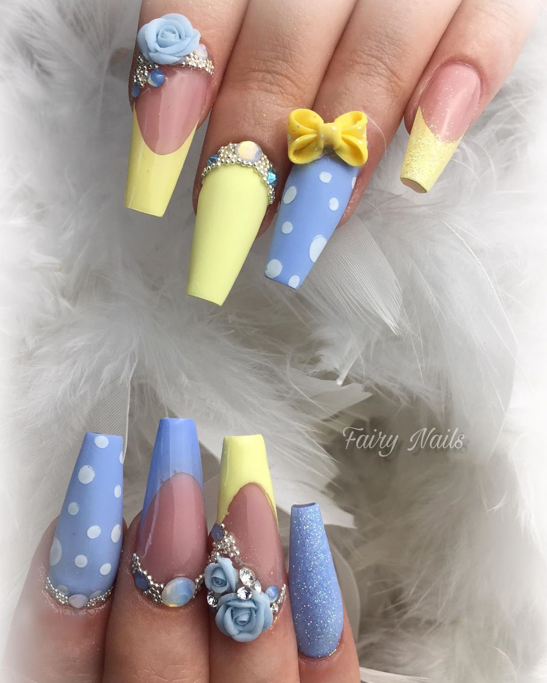 15 3D Flower Nail Art Designs