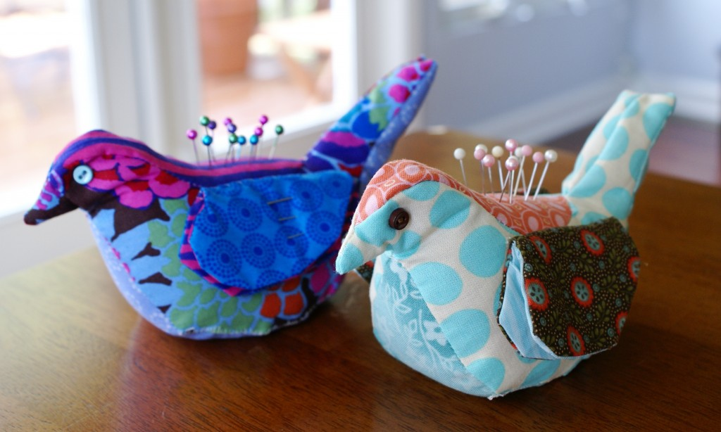 15 Bird Pincushion and Needle-Keep