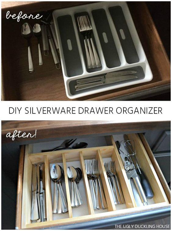 15 DIY Silverware Drawer Organizer