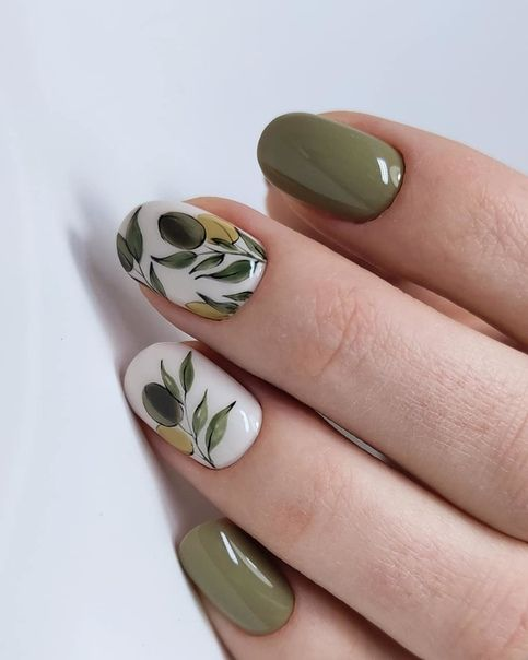 15 Leaf Nail Art Designs
