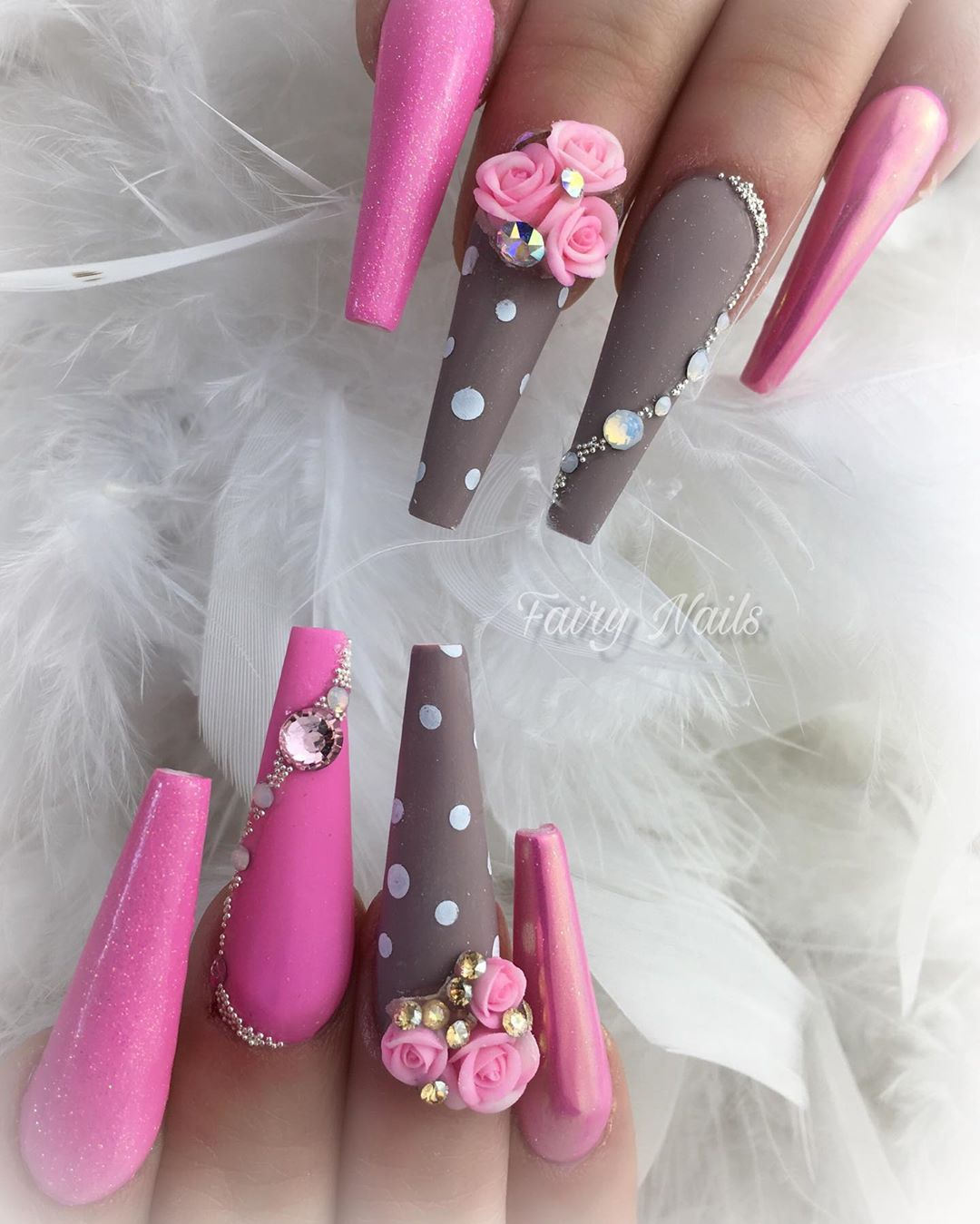 16 3D Flower Nail Art Designs