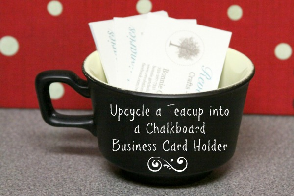16 Chalkboard Business Card Holder