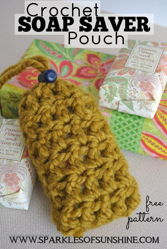 16 Crochet Soap Saver Pouch Pattern