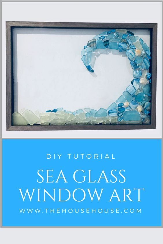 16 DIY Sea Glass Window Art