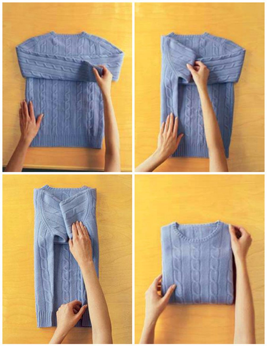 16 How to fold sweaters