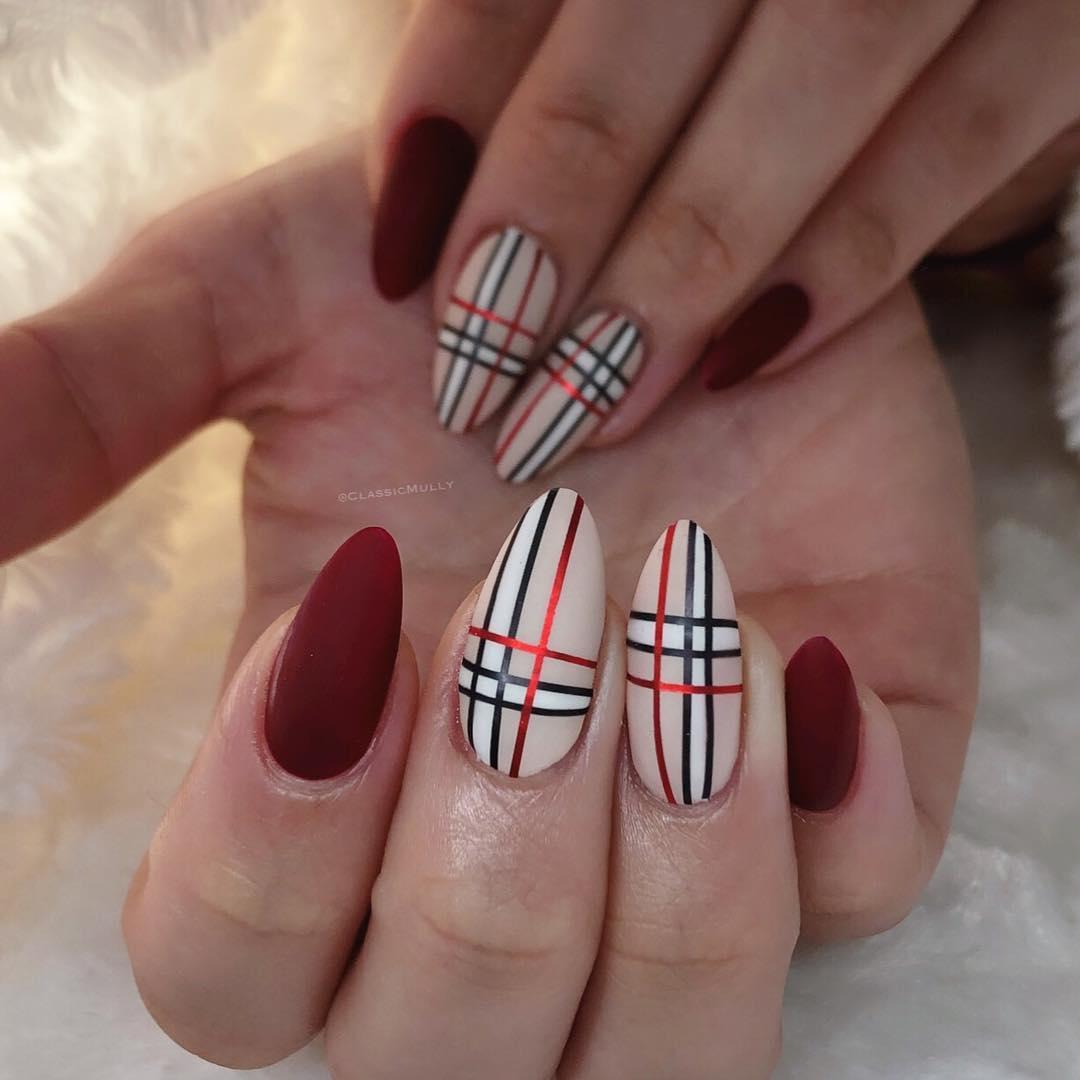 16 Matte Almond Shaped Nail Designs