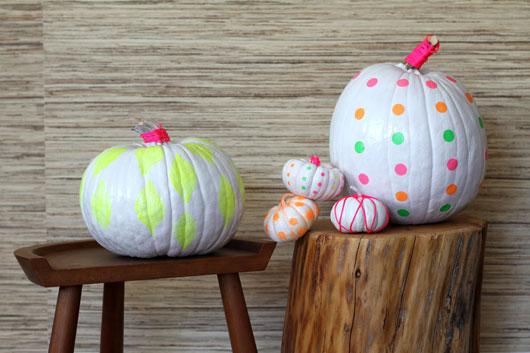 16 Neon Pumpkins