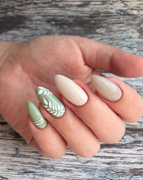 17 Leaf Nail Art Designs