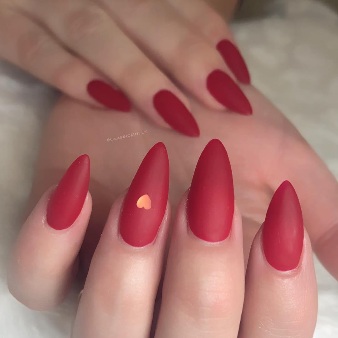 17 Matte Almond Shaped Nail Designs