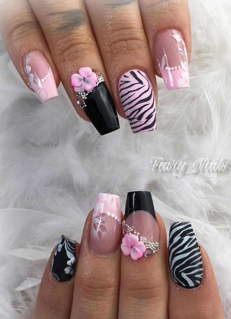 18 3D Flower Nail Art Designs
