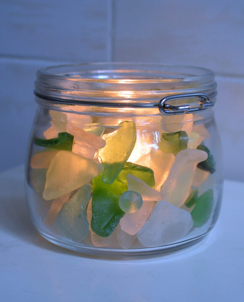 18 Sea Glass Candle