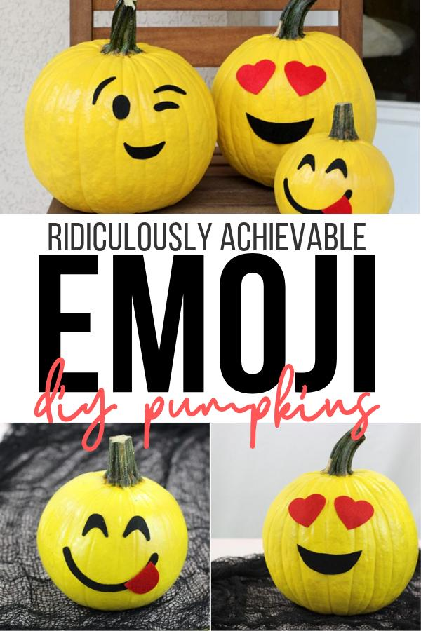 19 No Carve Emoji Pumpkins