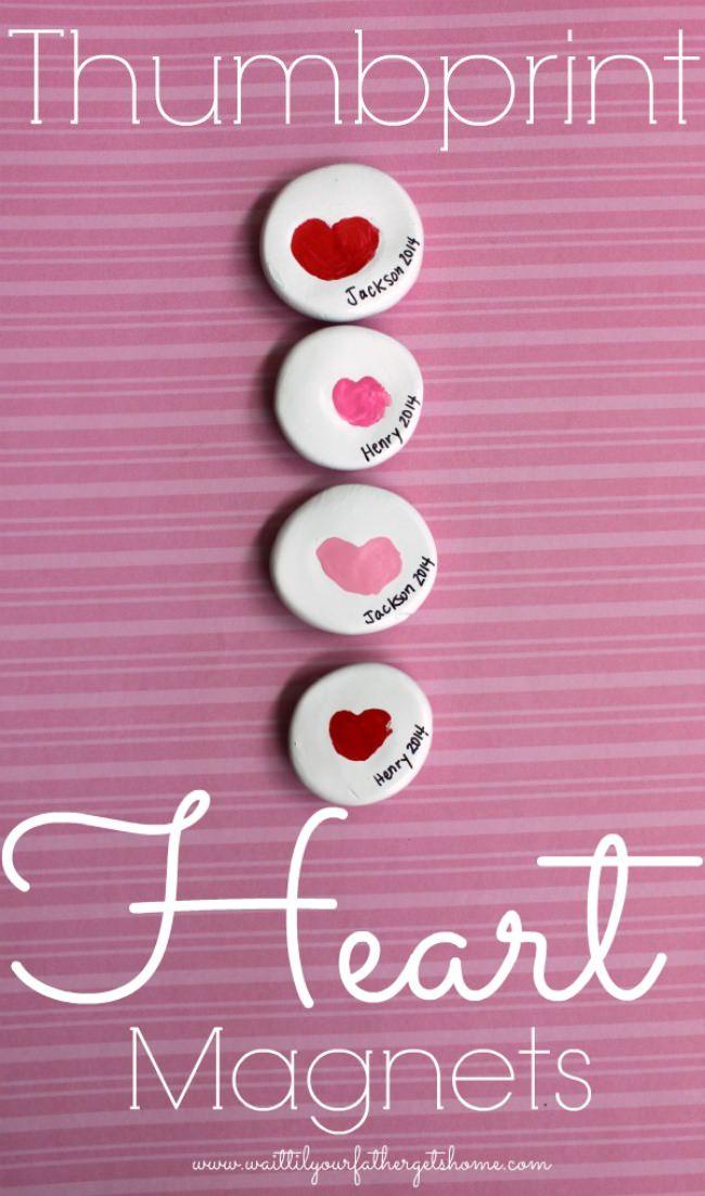 19 Thumbprint Heart Magnets