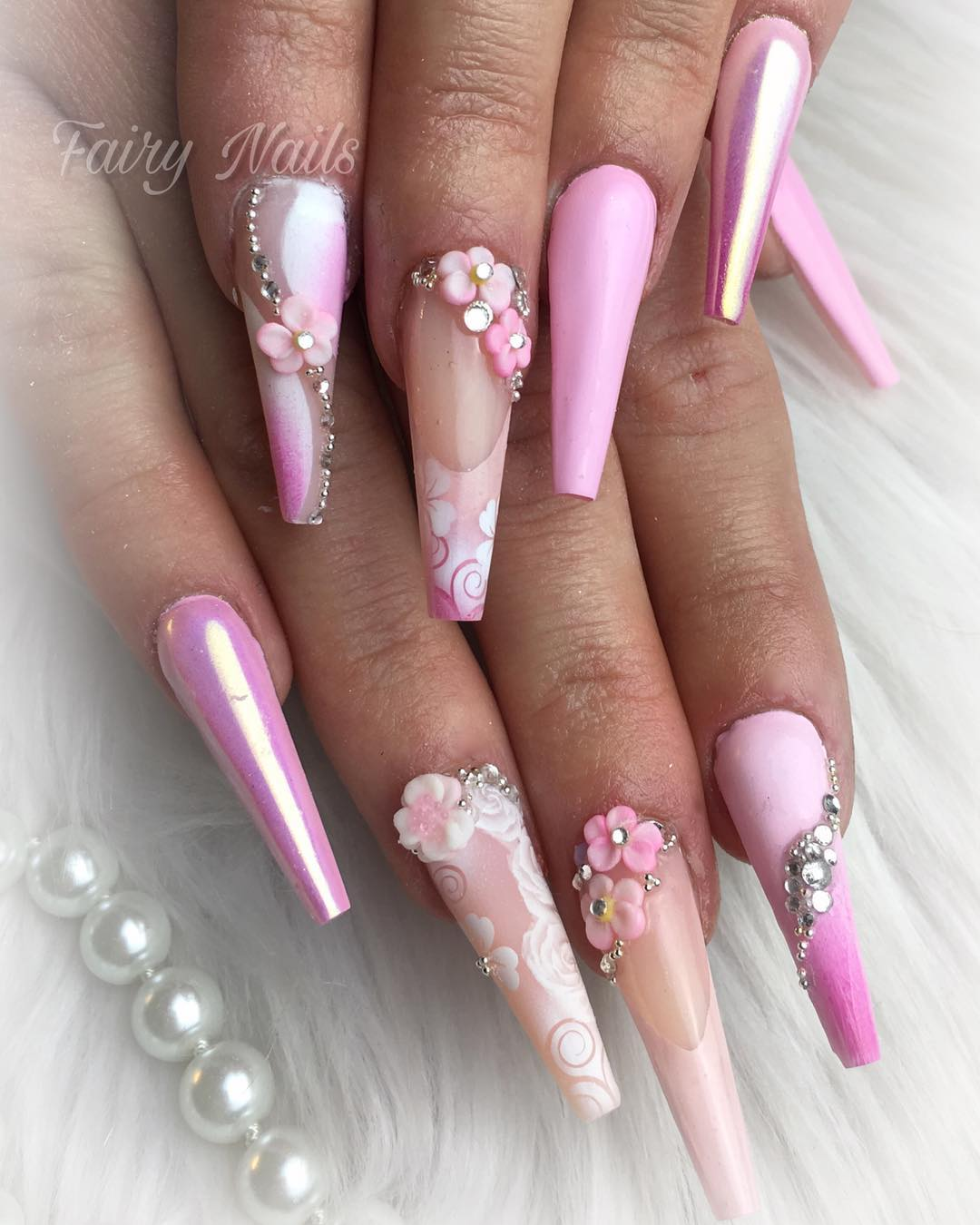 2 3D Flower Nail Art Designs