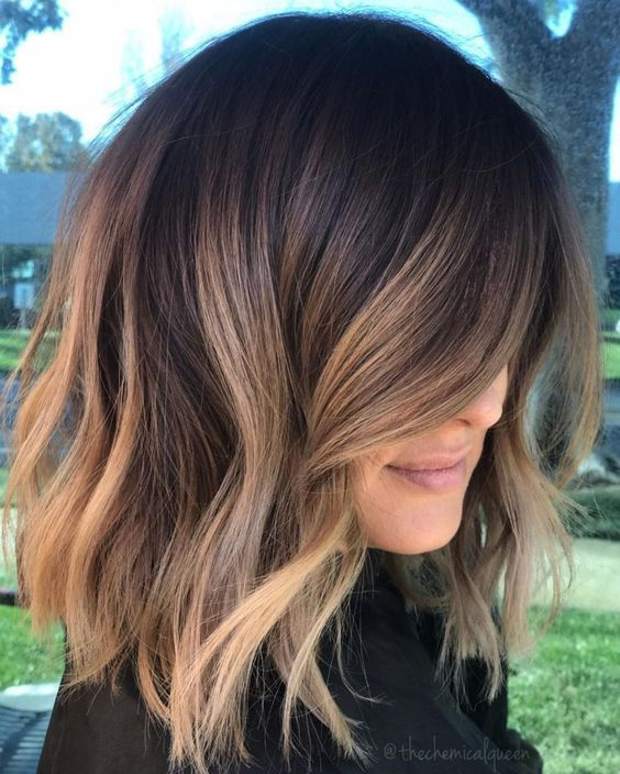2 Brunette Balayage Hair