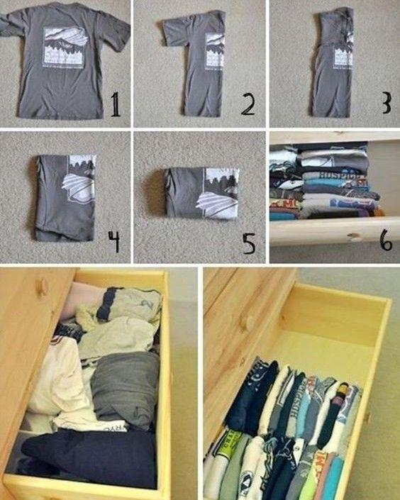 2 Folding Hacks For T-shirts