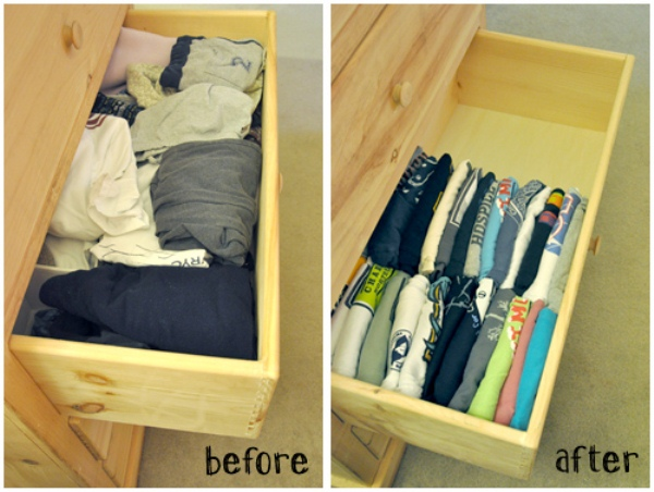 2 T-Shirt Drawer Organization