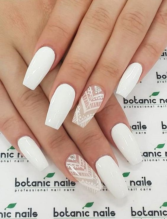 2 White Nail Art Designs