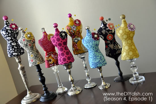 20 Dress Form Mannequin Pin Cushion