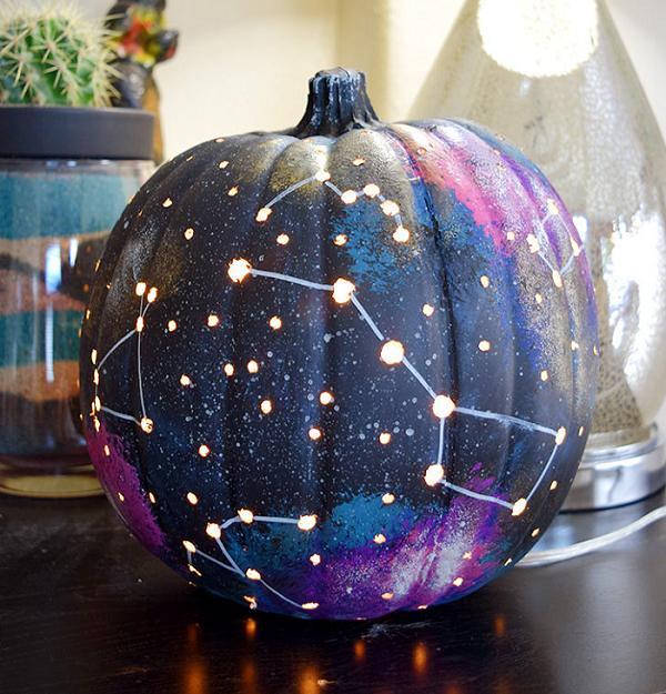 20 Galaxy Pumpkins