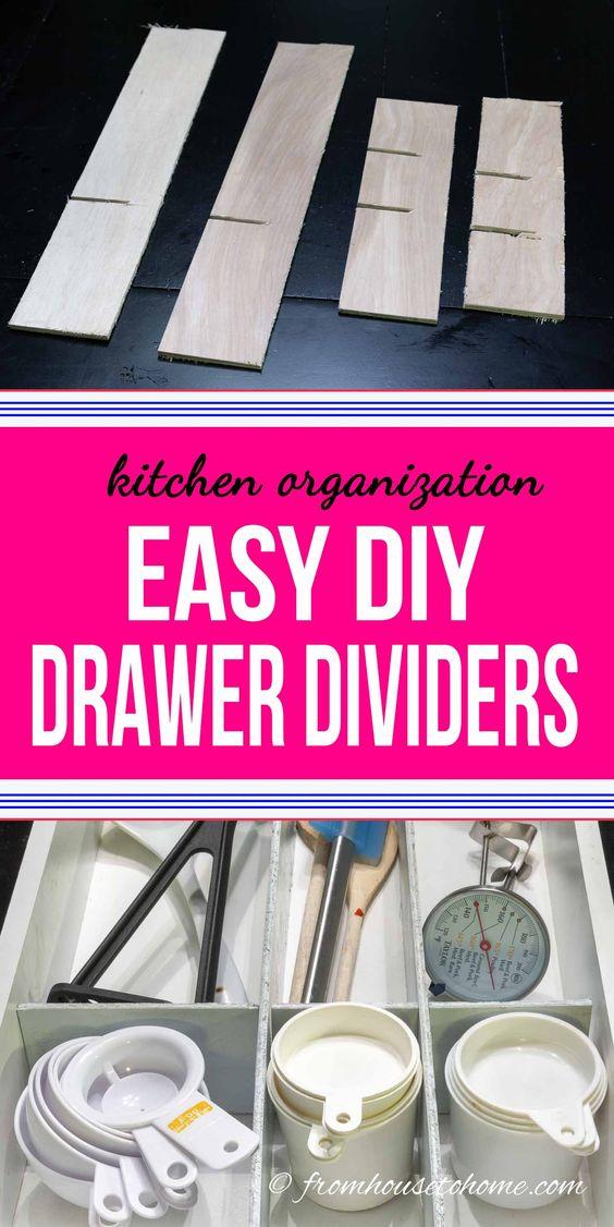 20 Super Easy Custom Wood DIY Drawer Dividers