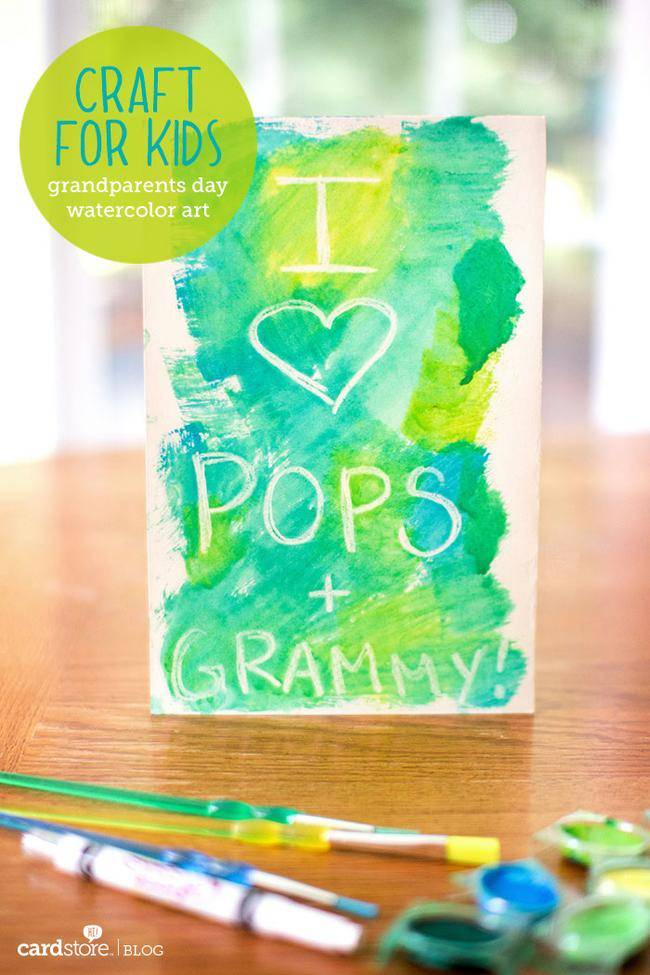 20 Watercolor Grandparents Day Card