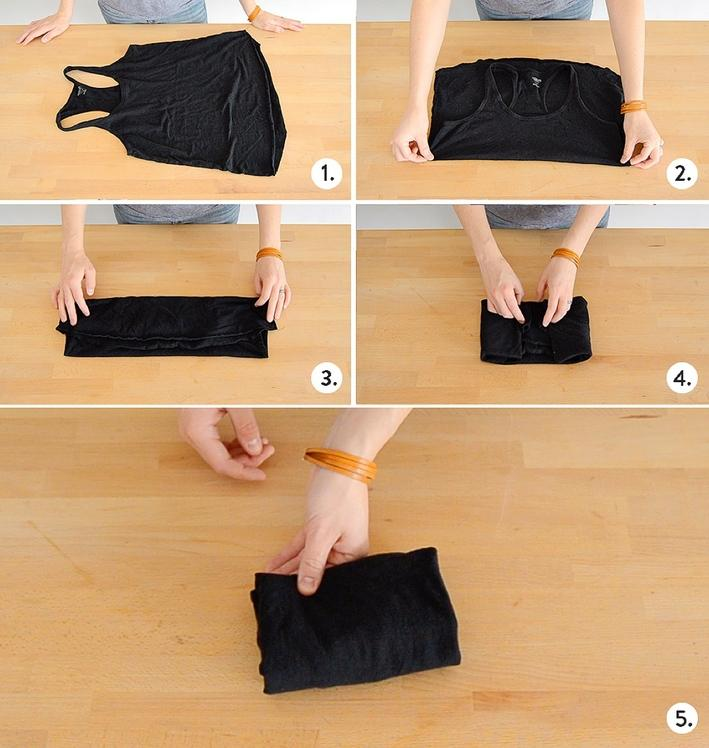 21 How to fold a shirt with straps