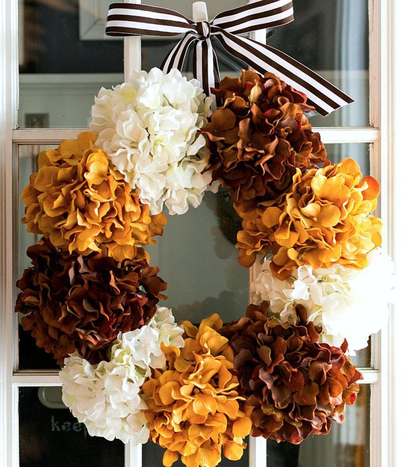 22 Fall Hydrangea Wreath