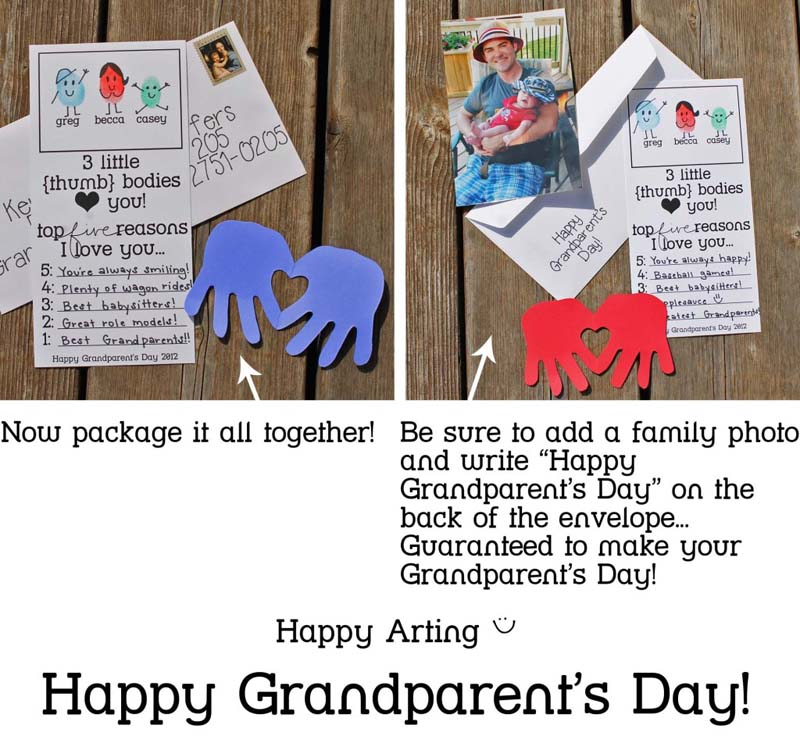 22 Grandparents Day Thumbprint Card