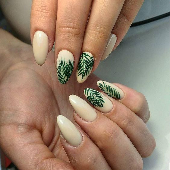 22 Leaf Nail Art Designs