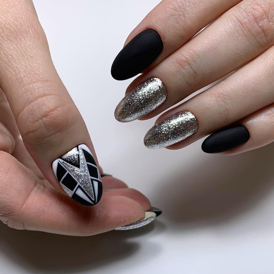 22 Matte Almond Shaped Nail Designs