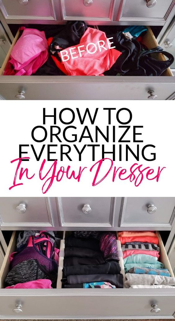 23 How to Organize Dresser Drawers