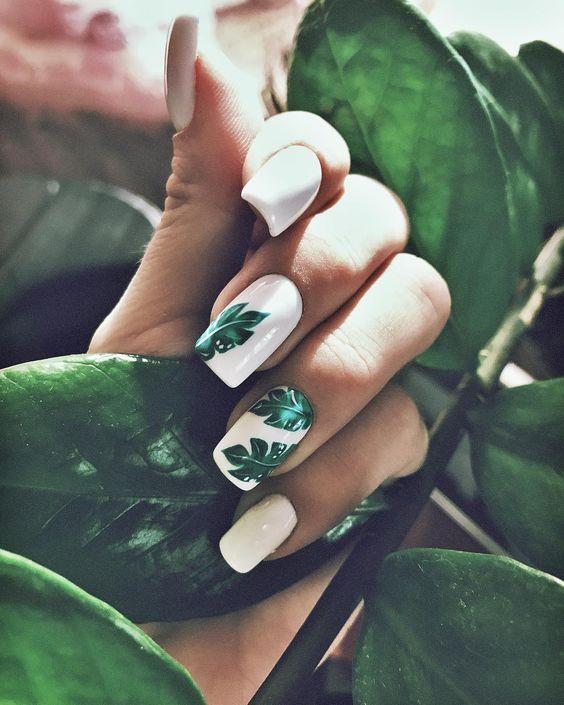 23 Leaf Nail Art Designs