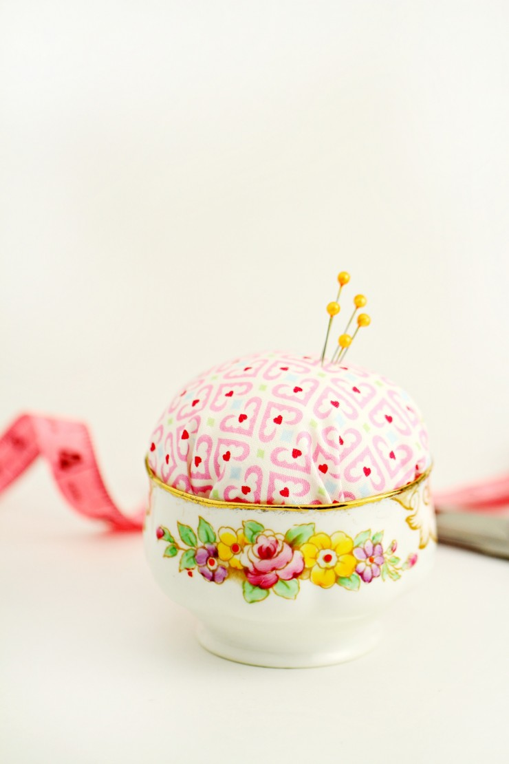23 Vintage Sugar Bowl DIY Pincushion