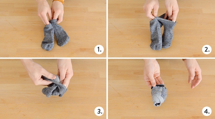 24 How to fold socks with an ankle