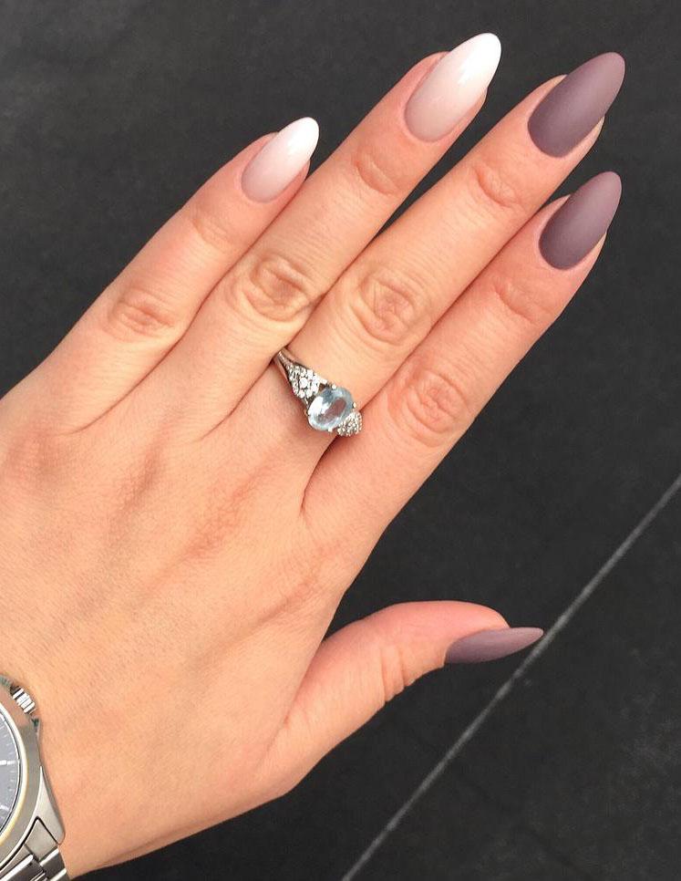 24 Matte Almond Shaped Nail Designs