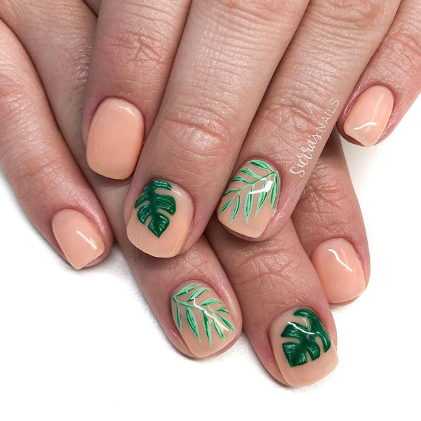 25 Leaf Nail Art Designs