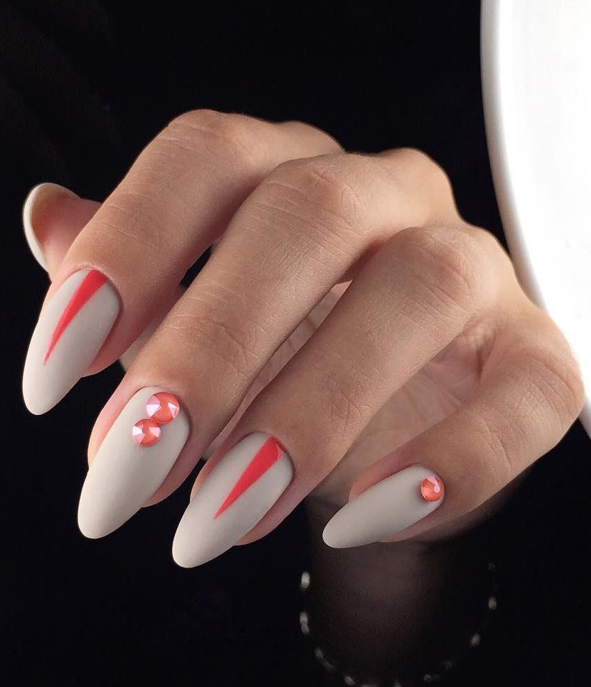 25 Matte Almond Shaped Nail Designs
