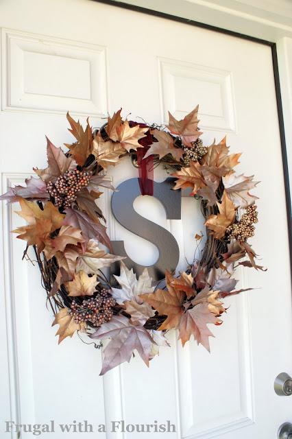 25 Metallic Fall Wreath