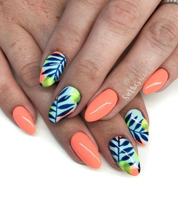 26 Leaf Nail Art Designs