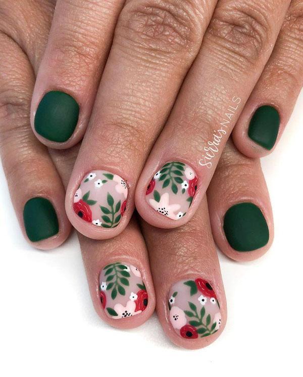 27 Leaf Nail Art Designs