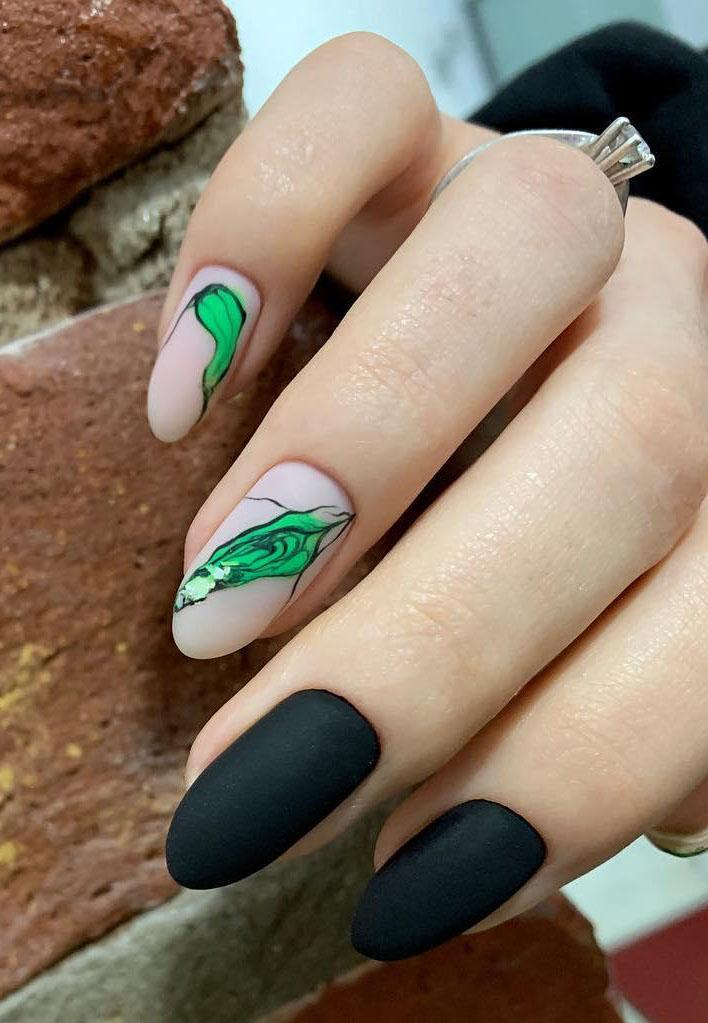 27 Matte Almond Shaped Nail Designs
