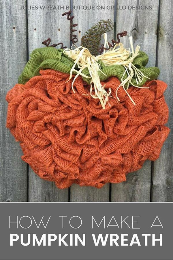 27 Orange Pumpkin Wreath