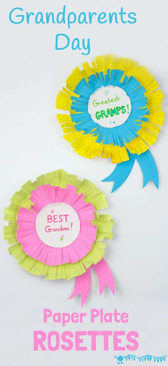 27 Paper Plate Rosettes