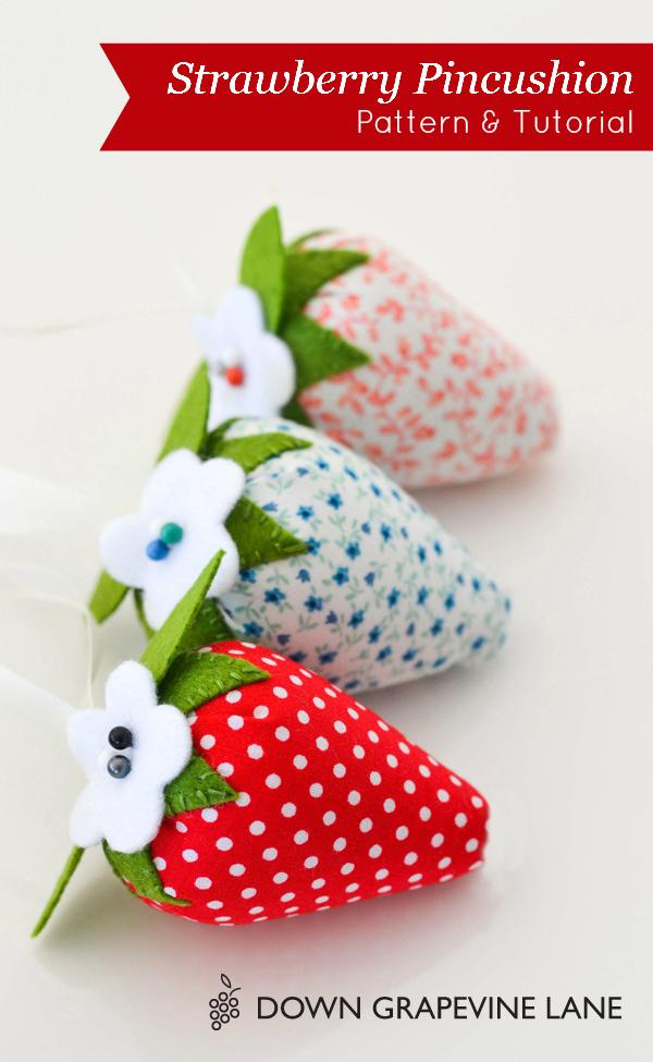 27 Strawberry pincushion