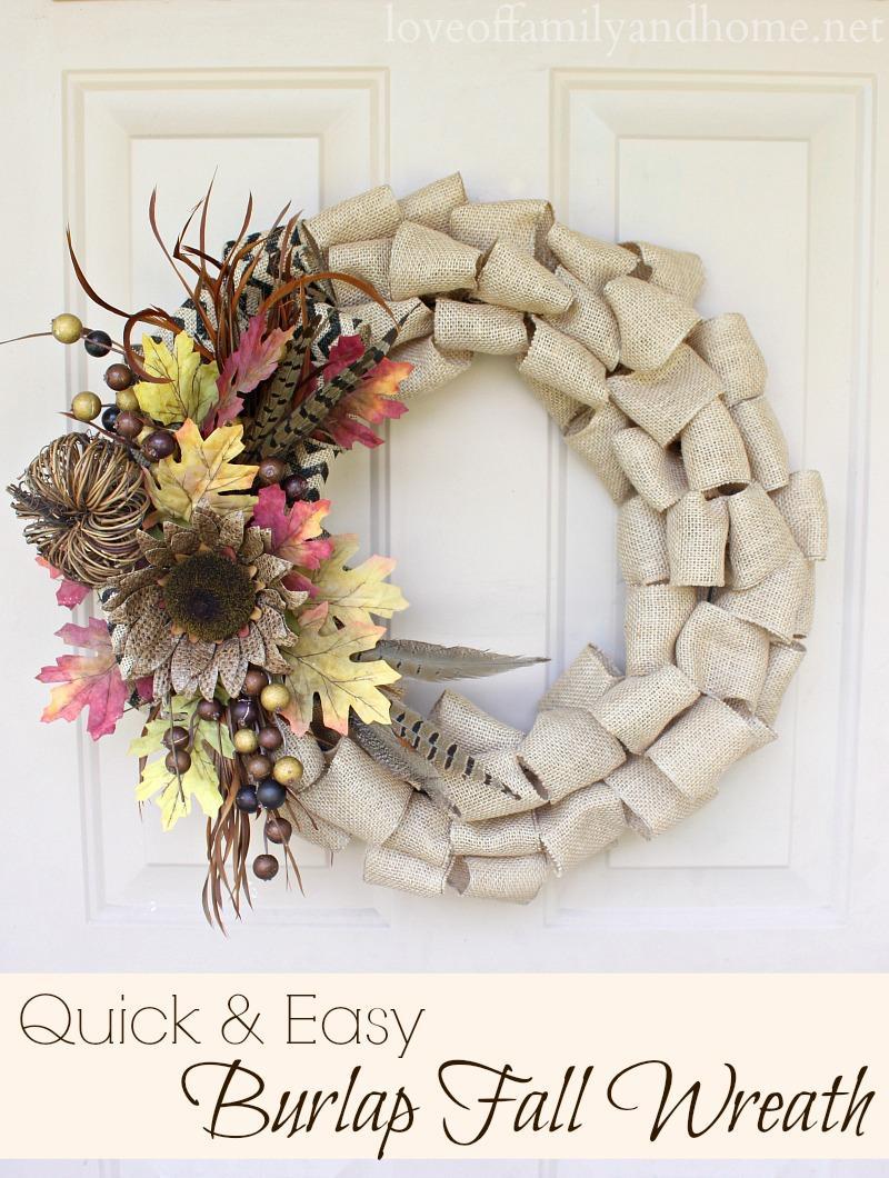 29 Burlap Fall Wreath