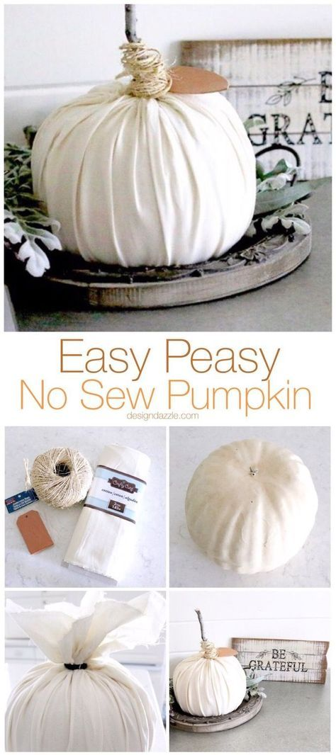 29 Easy Peasy No Sew Pumpkin